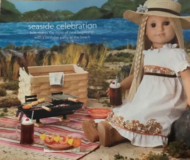 American Girl Julie/'s Birthday Hibachi BBQ Grill Beach Picnic Cook New MYAG