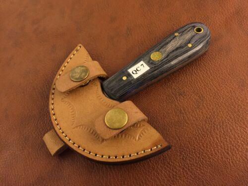 Handmade High Carbon Steel Leather Half Head Cutter-Skiving Tool-Blacksmith-QC7