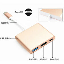 Gold USB 3.1 Type-C to 4K HDMI USB 3.0 HUB USB-C Charging Port MacBook Adapter