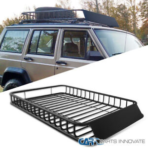 Universal-Car-SUV-Van-Travel-Holder-Roof-Rack-Top-Luggage-Cargo-Carrier-Basket