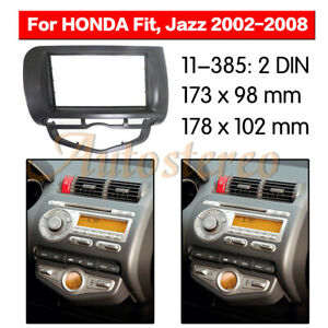 Car-Stereo-Radio-Fascia-Panel-Audio-Frame-For-Honda-Jazz-City-Auto-AC-LHD-2DIN