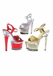 c221fda91c Ellie Shoes 649-DISCO Disco 6'' Crossed Strap Textured Platform | eBay
