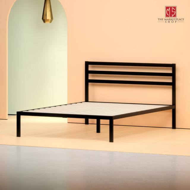 Zinus Mia 14 Quot Black Metal Platform Bed Without Headboard
