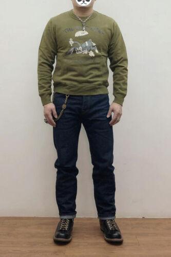 Vintage Men/'s Military Style Cartoon Print Crew Sweater Bugs Bunny Sweatshirts