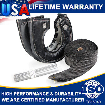 New Useful Free E-Book 2 50FT Exhaust Header Wrap Tape Quality T4 Titanium Turbo Heat Shield Blanket Cover