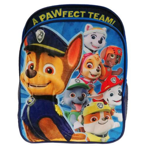 "bleu Paw Patrol 15.5/"" Boys /'Sac à dos sac d/'école"