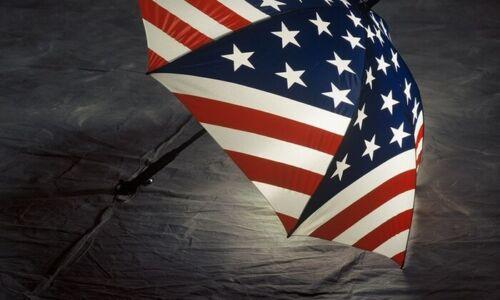 lot of 12 Bright Night Illuminated Umbrella New Red White /& Blue American Flag