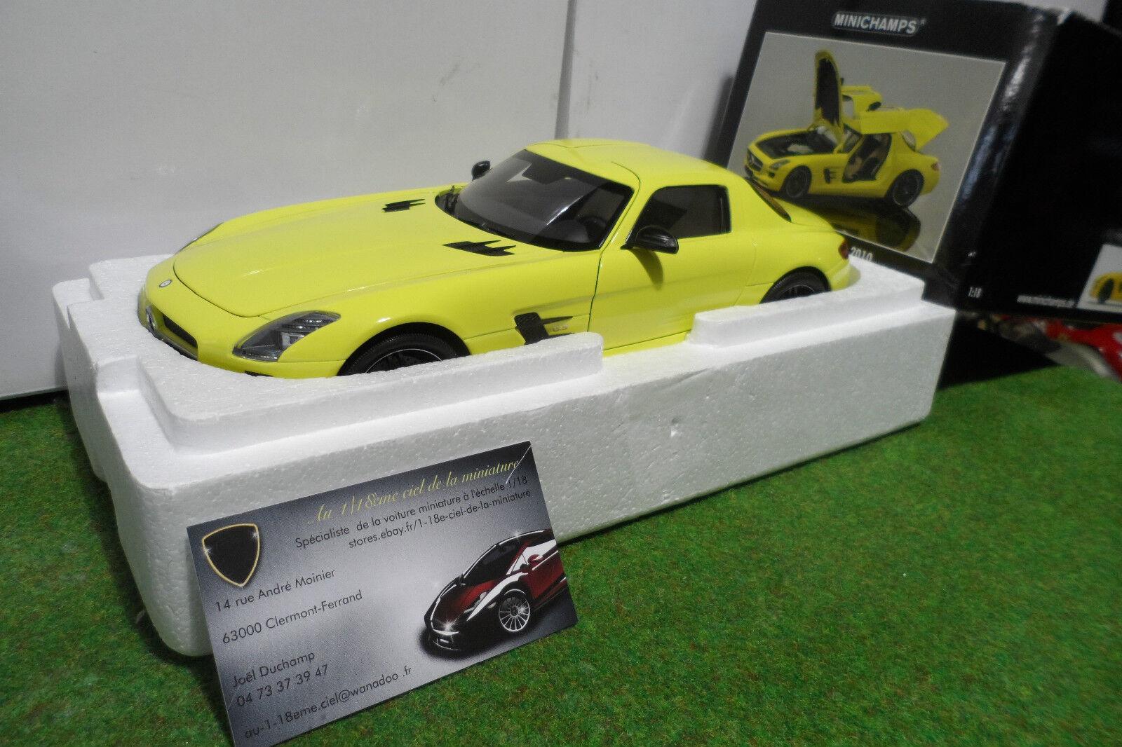 MERCEDES-BENZ SLS AMG 2010 jne 1 18 MINICHAMPS 100039022 voiture miniature coll.