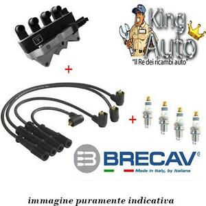 KIT ACCENSIONE BOBINA + CAVI + CANDELE FIAT MULTIPLA 1.6 BENZINA NATURAL POWER