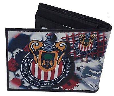 Club Deportivo Guadalajara Las Chivas Soccer cartera billetera de piel