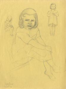 Bip-Pares-1904-1977-1934-Graphite-Drawing-Suzan-Jane