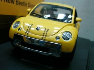 Wow extrêmement rare Volkswagen New Beetle Vr5 Jaune 1:18 Auto Art-kafer / vr6