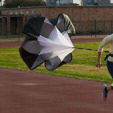 -US Running ChuteSpeed Training Resistance Parachute Fitness Chute Black