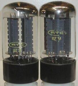 Tubes-Electronique-la-paire-2-x-pieces-GZ34-RTC-Neuf