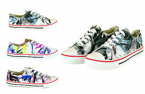 WOMENS-TRAINERS-SHOES-GIRLS-NEW-LADIES-FLAT-CANVAS-PUMPS-LACE-UP-CASUAL-SIZE-3-8