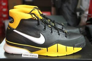 8aad3167fb8 Nike Kobe 1 Protro Black White Varsity Maize Undefeated AQ2728 QS ...