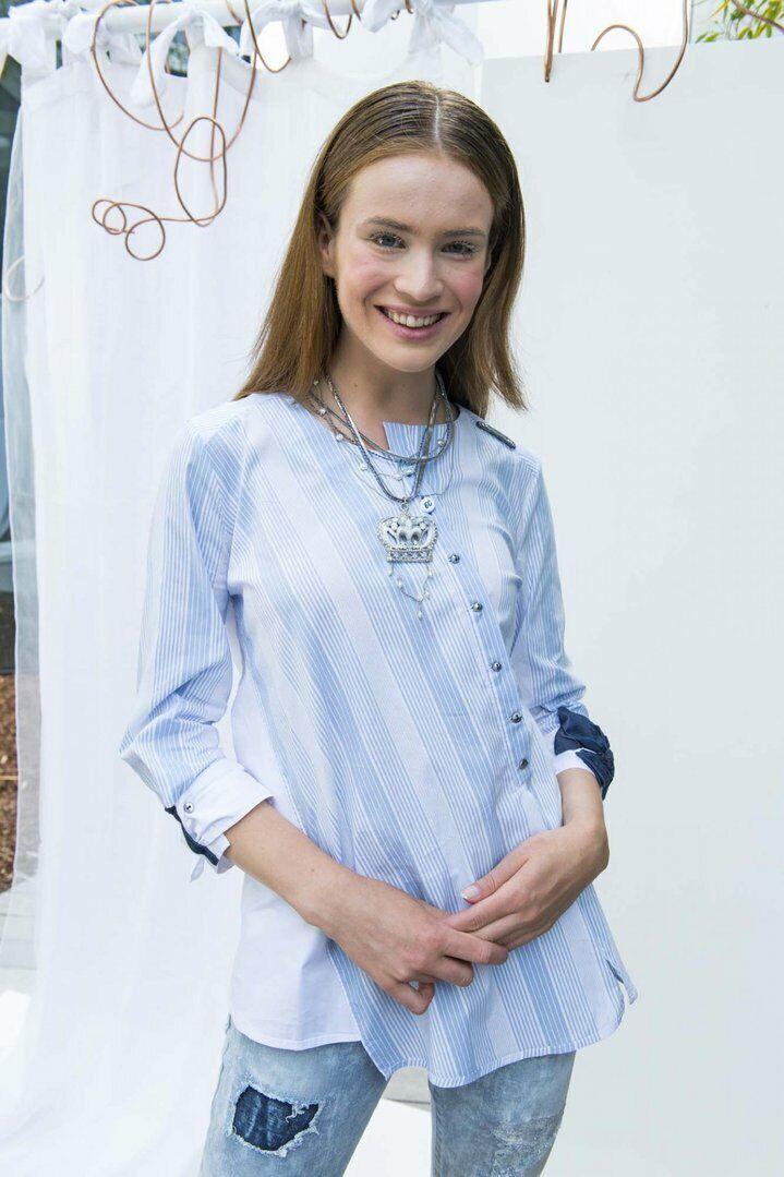 ELISA CAVALETTI Blause Blouse Bianco Gr. M, L, XL Sommer 2019