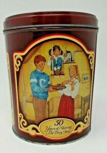 Vintage Advertising Nestle Toll House Morsels Cookies Metal Tin Can Container
