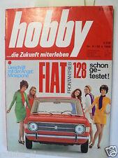 HOBBY 1969-9 FIAT 128 TEST,SEGELSOMMER,BUGGY VW HAZ-BUGGY,ZUNDAPP BOOTSMOTOR ADD