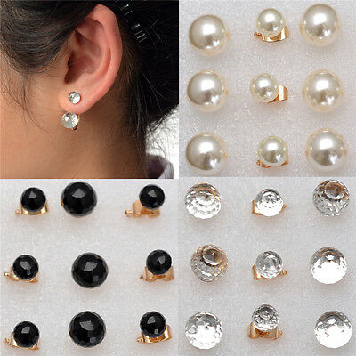 3 Style Korean Fashion Crystal Rhinestone Pearl Jewelry Ear Stud Earrings Hot