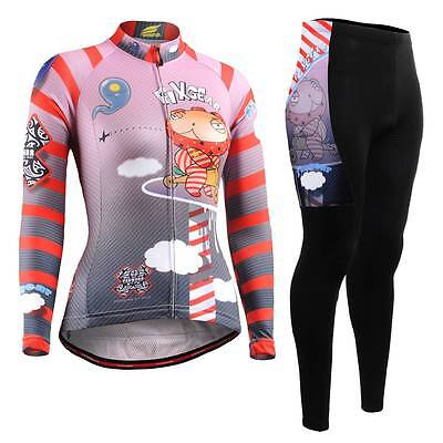 FIXGEAR CS-W1601-SET Women's Cycling Jersey & Padded Pants MTB Bike BMX Roadbike