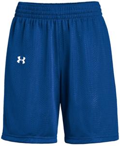 New Under Armour Triple Double Basketball Short Women/'s L Royal Blue White $15