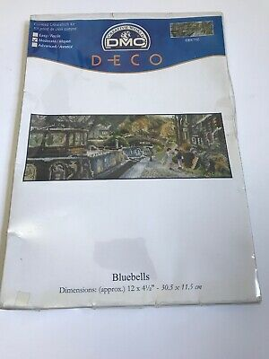 Deco-Line Stamped Cross Stitch Tablecloth Kit Bluebells /& Dandelions by Deco-Line