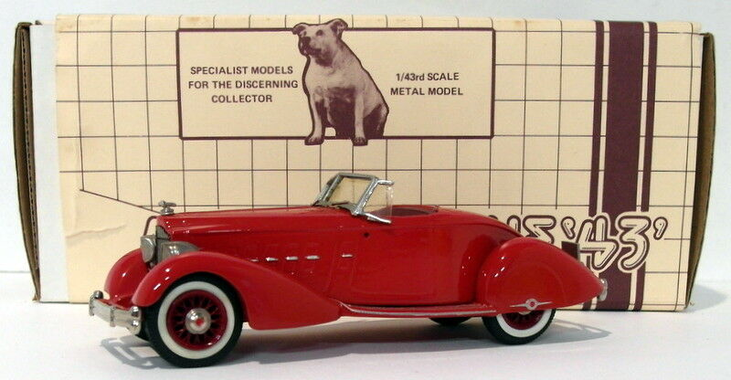 Minimarque 43  Scale US8A - 1 Packard Boattail Runabout Speedster - Rojo