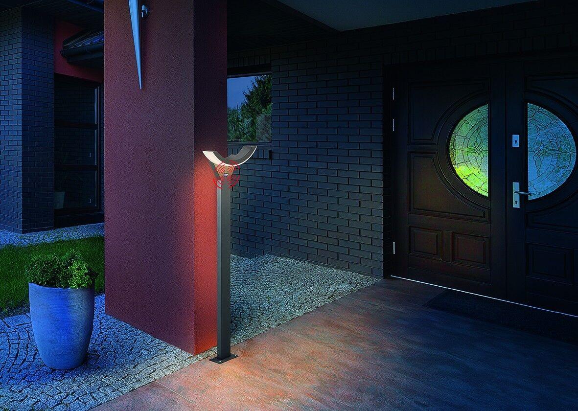Led Lámpara de Jardín Camino Exterior Stand Sensor Movimiento Aluminio