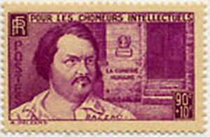 FRANCE-STAMP-TIMBRE-438-034-HONORE-DE-BALZAC-90-C-10-C-034-NEUF-x-TB