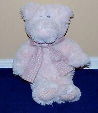 "12"" Light Pink Friendzies Plush Pig Stuffed Animal Plaid Bow 2006"