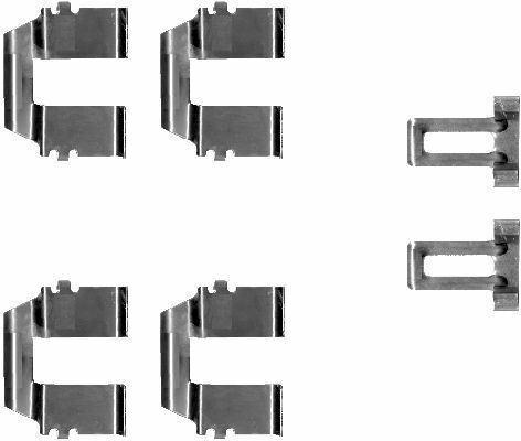 arrière Mintex MBA1233 Kit d/'accessoires Disque Plaquettes de frein avant