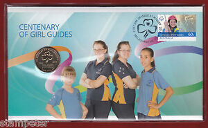 11-x-2010-PNC-Centenary-of-Girl-Guides-with-scarce-1-coin