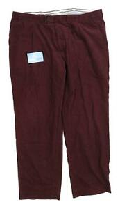 Marks-amp-Spencer-Mens-Burgundy-Corduroy-Trousers-Size-W42-L33