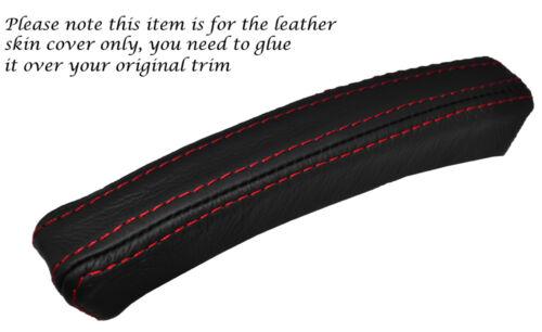 Red stitch 1x console centrale capot en cuir de peau trim fits SAAB 93 9-3 03-11