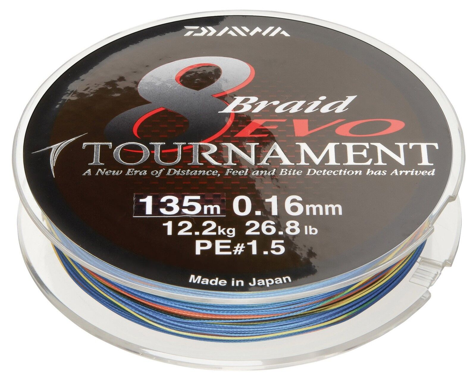Daiwa Tournament 8 Braid EVO 150m multicolour - geflochtene Angelschnur