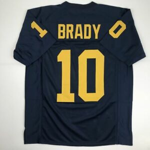 Details about New TOM BRADY Michigan Blue College Custom Stitched Football Jersey Men's XL