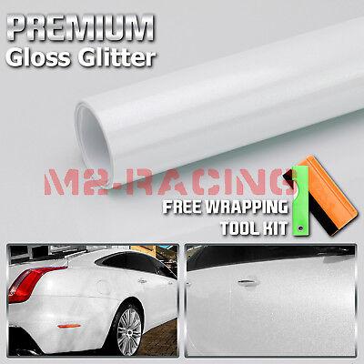 High Gloss Glitter Lime Green Sparkle Metallic Car Vinyl Wrap Sticker Decal