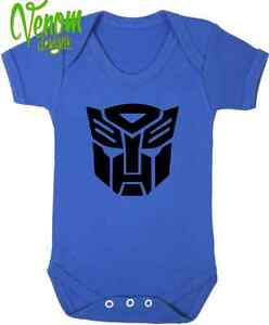 Transformers Autobots BABY BODYSUIT GROW VEST Birthday Christmas Mum Gift funny
