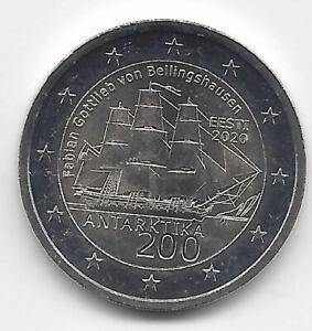 Estonie 2 Euros 2 Gen 2020 Découverte Antarctique Emissions N°10
