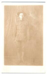 RPPC-WWI-US-Soldier-Doughboy-Real-Photo-Postcard-5U6
