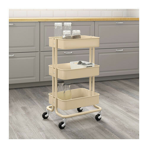 Bon IKEA Raskog Home Kitchen Bedroom Storage Steel Utility Cart Beige | EBay