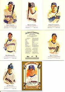2007-Topps-A-amp-G-Allen-amp-Ginter-Texas-Rangers-Master-Team-Set-w-Sketch-9