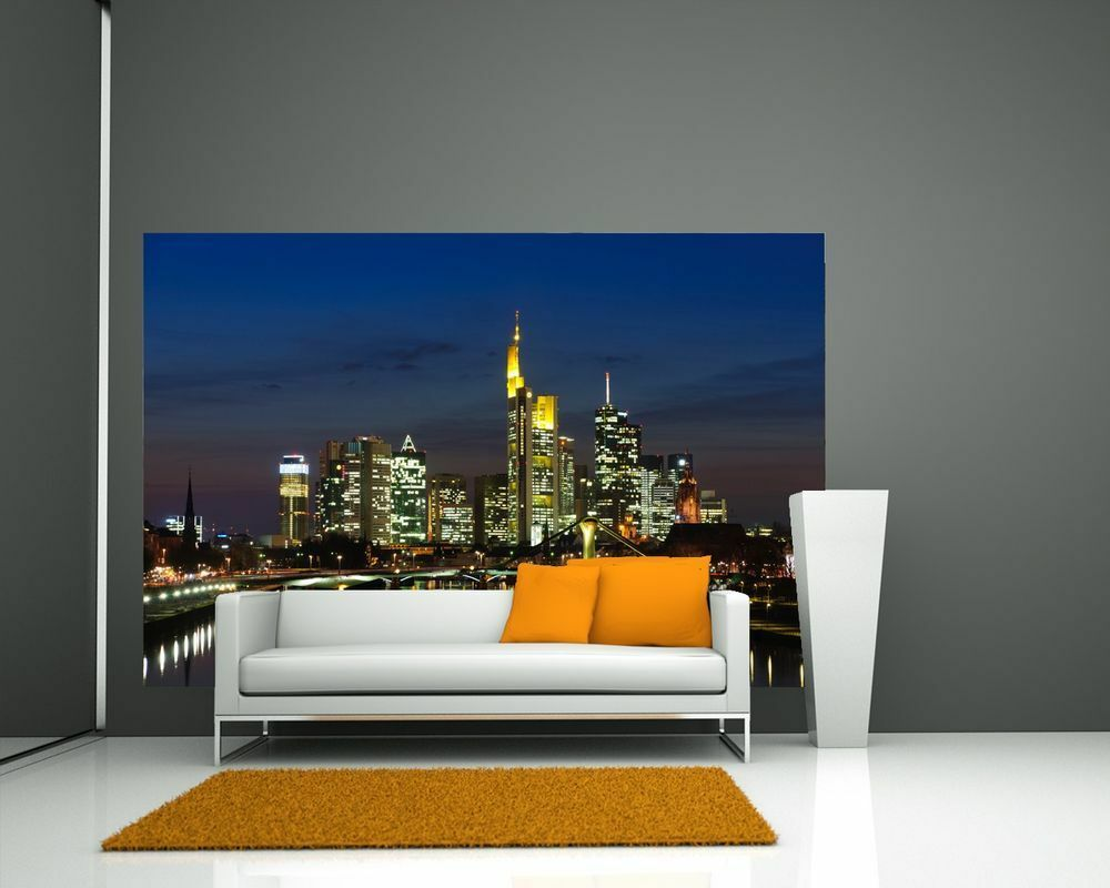 Fototapete Frankfurt Skyline bei Nacht - Deutschland
