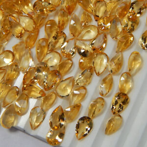Natural-Citrine-3x5mm-Pear-Cut-10-Pieces-Top-Quality-AA-Color-Loose-Gemstone-AU
