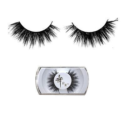 100% Real Mink Natural Thick False Fake Eyelashes Eye Lashes Handmade Extension