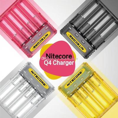 Nitecore Q4 4-Bay Quick Charger for Li-Ion /& IMR Batteries Lemonade