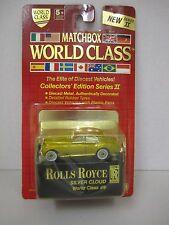 "1989 Matchbox World Class ""ROLLS ROYCE SILVER CLOUD"" - Die-Cast -  1/64 Scale"