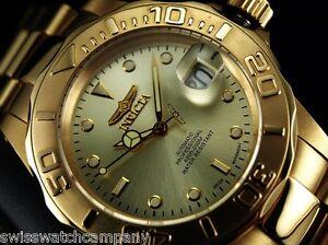 Details about INVICTA Men 40mm Original Pro Diver Swiss ETA 2824-2  Automatic 23KGIP SS Watch