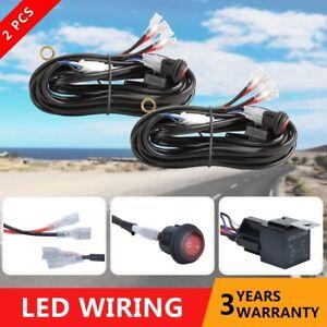 image is loading 2-universal-wiring-harness-kit-led-light-bar-